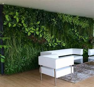 Hot fake grass wall panel plastic living plants wall for for Interior design grass wall