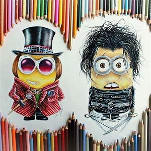 minions color pencil drawing by anna