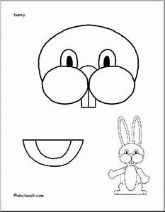 easter bunny paper bag puppet could use just for the With paper bag bunny template
