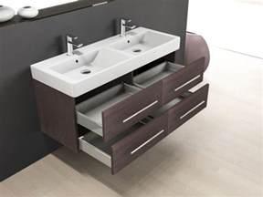 wand streichen braun doppelwaschbecken mit unterschrank und spiegelschrank dekoration inspiration innenraum und