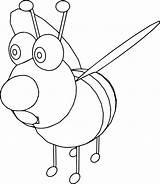 Cartoon Bee Coloring Wecoloringpage sketch template