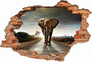 Image Trompe L Oeil : stickers trompe l 39 oeil 3d el phant pas cher ~ Melissatoandfro.com Idées de Décoration