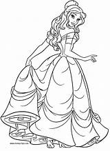 Coloring Belle Pages Princess Printable Beauty Odd Dr sketch template