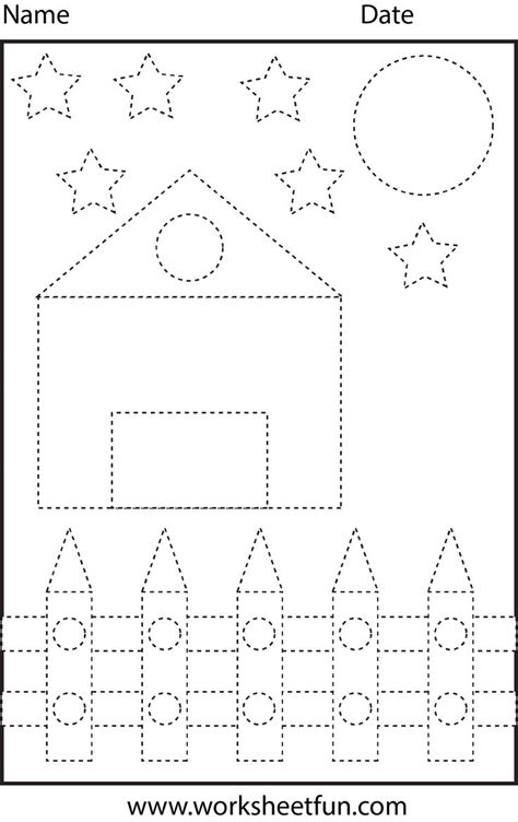 crafts actvities and worksheets for preschool toddler and 845 | Shape Tracing