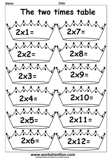 arab unity school grade 1 c blog maths multiply by 2 worksheets