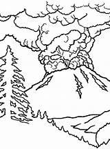 Volcano Coloring Eruption Colouring Drawing Volcanoes Erupting Volcanos Netart Sheets Trending Days Getdrawings sketch template