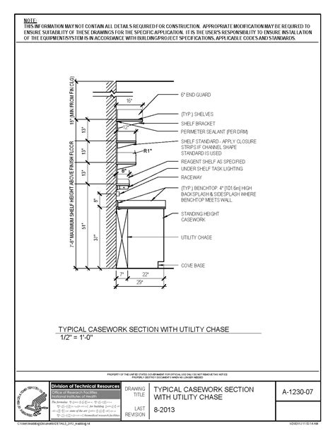 island bar kitchen nih standard cad details
