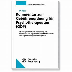 Gop Abrechnung : kommentar zur geb hrenordnung f r psychotherapeuten gop deutscher rzteverlag gmbh ~ Themetempest.com Abrechnung