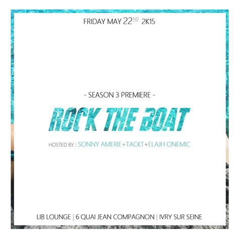 Rock The Boat En Francais by Be Klas La Soir 233 E Rock The Boat De Retour Ce Vendredi 22