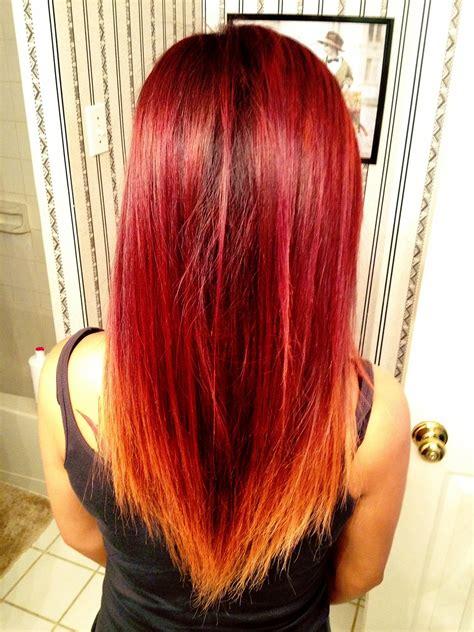 images  redorange ombre hair  pinterest