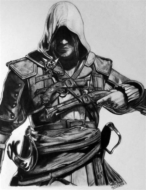 Assassins Creed 4 Fan Art Drawing By Lethalchris On