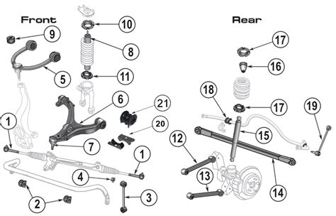 Jeep Patriot Rear Suspension Diagram