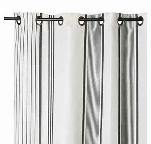 Rideau Gris Et Rose : rideau gris et blanc berrain fusain ~ Teatrodelosmanantiales.com Idées de Décoration