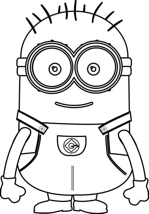 Cute Basic Minion Coloring Page 77 Charming Free Pages Bob