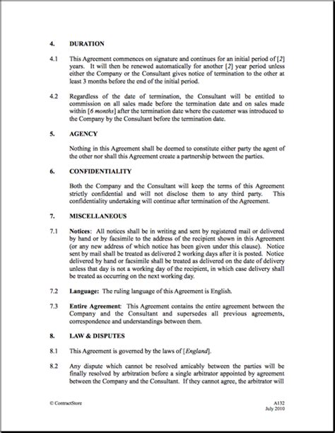 Sales Commission Letter Template by Image Gallery Commission Agreement