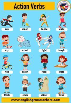verbs matching  worksheets  images english