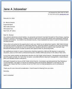 elementary school teacher cover letter samples resume With sample teaching cover letters for new teachers