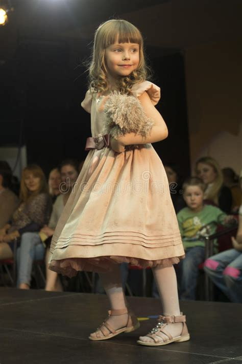 fashion kids show  minsk belarus editorial stock photo