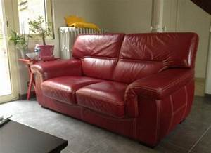 photos canape cuir rouge With canape angle cuir rouge conforama