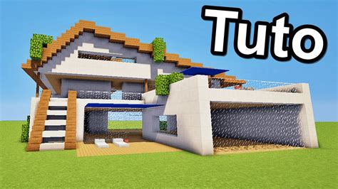 Minecraft Tuto Maison Moderne !! ) Youtube