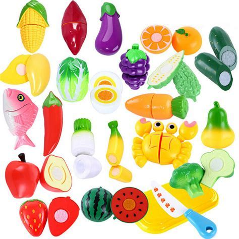 Children Pretend Role Play Kitchen Fruit Vegetable Food