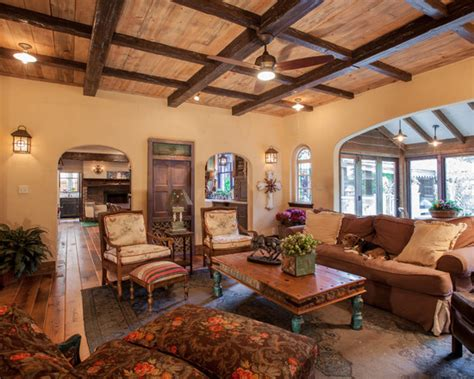 excellent faux wood ceiling beams  planks rustic living room  antique oak flooring