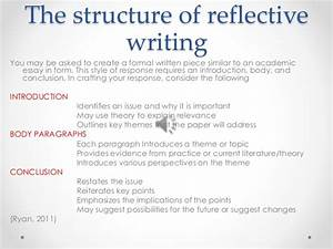 critical reflective writing With structured reflective template