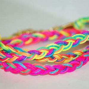 Neon Friendship bracelet wrap braided from