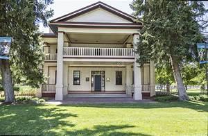 Historic Isaac Chase Home In Salt Lake City Utah Stock