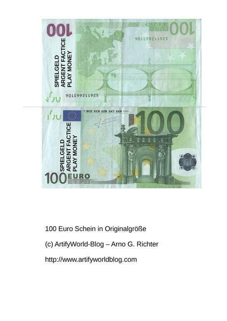 Schein zum ausdrucken euro Euroscheine Zum