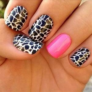 Trendy Cheetah Print with a Shade of Pink - Nail Art
