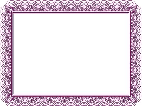 diploma border template purple formal certificate backgrounds presnetation ppt