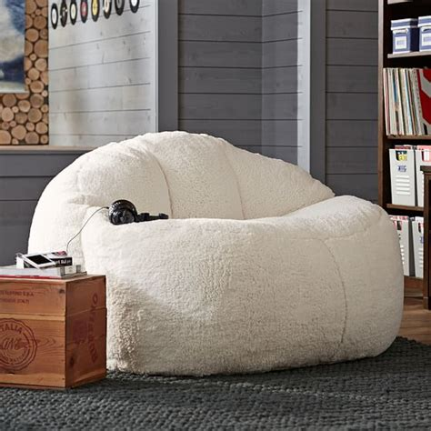 sofa for teenage bedroom ivory sherpa faux fur cloud 55 quot pbteen