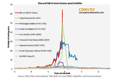 Bridgen shared a chart of tesla stock with a fractal of bitcoin's weekly chart from 2016 to 2019. Not PC: This Time It's Different, Episode IX: 'The Rise and fall of some famous asset bubbles'