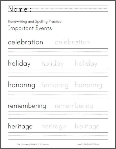 free handwriting worksheets for 3rd graders free