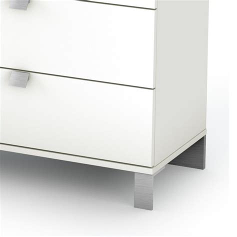 south shore affinato kids 6 drawer double dresser in pure