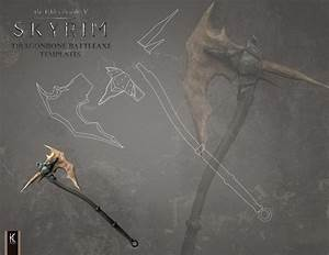 Skyrim Dragonbone Battleaxe Templates by KarinaKozak on ...