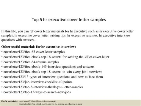 top  hr executive cover letter samples