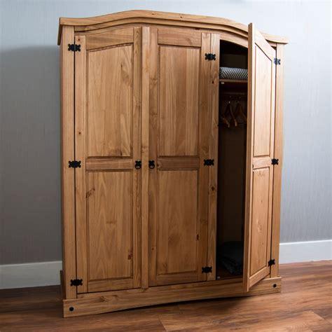 Mexican Pine 3 Door Wardrobe by Corona 1 2 3 Door Wardrobe Solid Pine Wood Mexican Bedroom