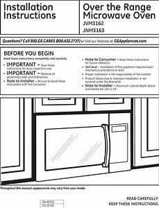 Ge Jnm3163dj1bb User Manual Microwave  Hood Combo Manuals