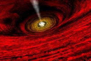 APOD: 2009 April 19 - The View Near a Black Hole
