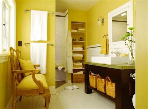Colored Bathroom Designs by 25 Modern Bathroom Ideas Adding Yellow Accents To