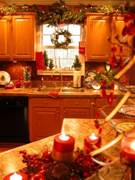 decorating  kitchen cabinets images  pinterest merry christmas love christmas