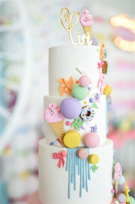 karas party ideas girly pastel carnival birthday party