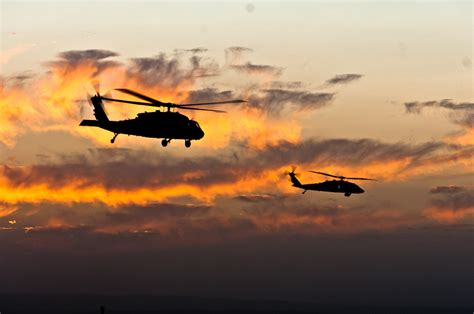 Military Photos Black Hawk Sunset