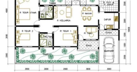 rumah minimalis beserta denahnya terbaru denah rumah