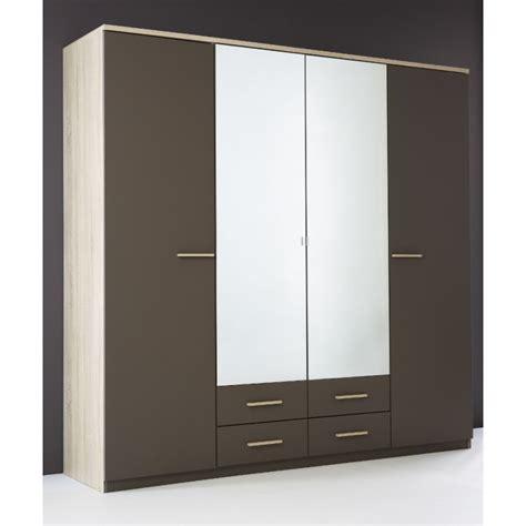 meuble penderie chambre armoire penderie rangement moderne 4 portes panel meuble
