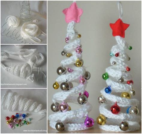 wonderful diy french knitting ornaments  christmas