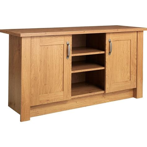 Tv Unit And Sideboard by Buy Collection Ohio 2 Door Low Sideboard Tv Unit Oak