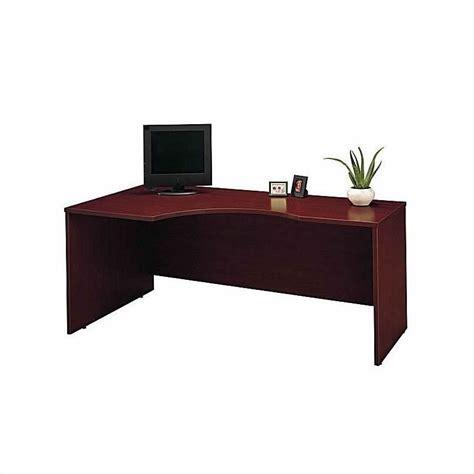 2 piece l shaped desk bush business series c 2 piece l shape bow front desk set